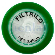 Filtro de seringa PES - Hidrofílico - 0,45μm x 25mm - Caixa com 100 unidades