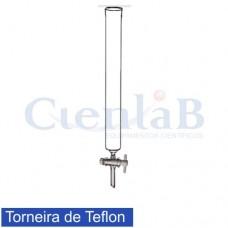 Coluna Cromatográfica com torneira de teflon , tamanho 10 X 150 mm